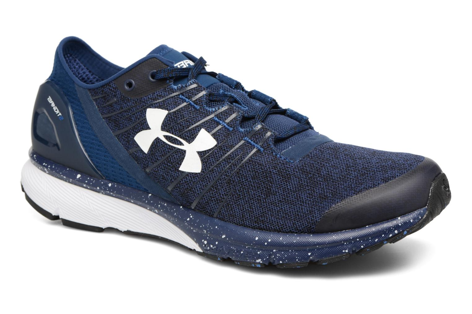 Sport shoes Under Armour Charged Bandit 2 Blue detailed view/ Pair view