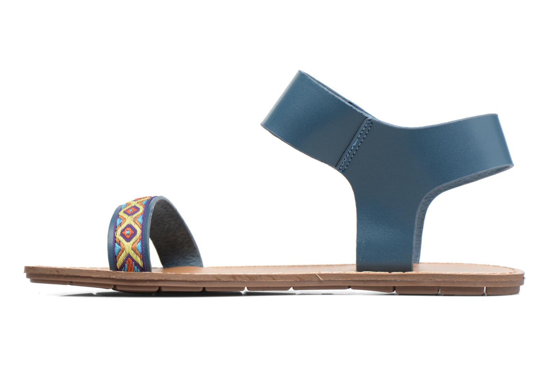 Sandales et nu-pieds Chattawak Louisiane Bleu vue face