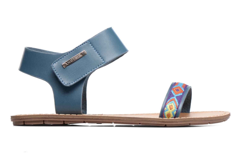 Sandales et nu-pieds Chattawak Louisiane Bleu vue derrière