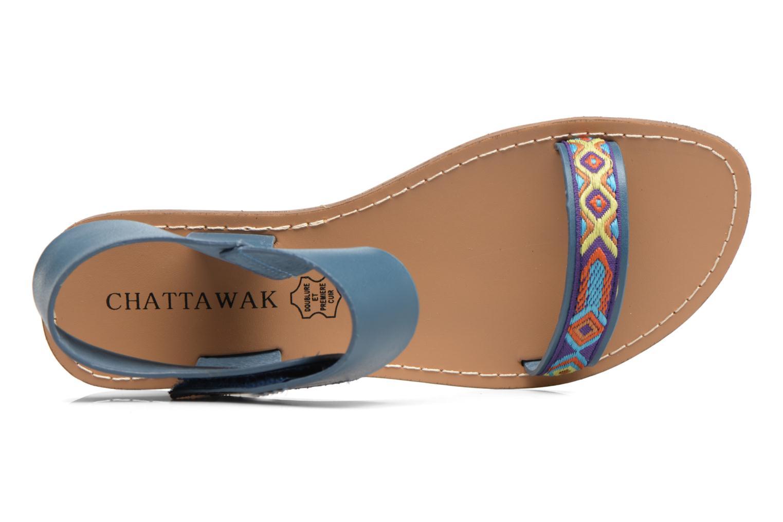 Sandales et nu-pieds Chattawak Louisiane Bleu vue gauche