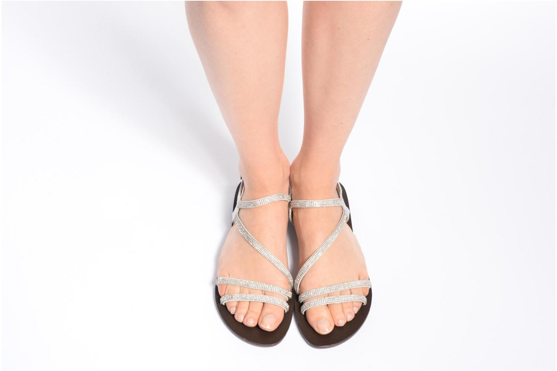 Sandales et nu-pieds Chattawak Nelly Argent vue bas / vue portée sac