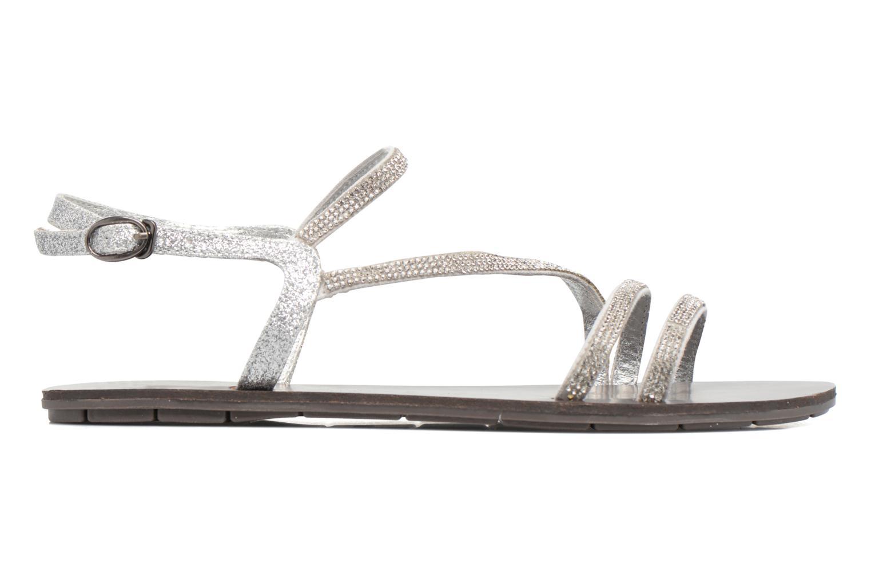Sandales et nu-pieds Chattawak Nelly Argent vue derrière
