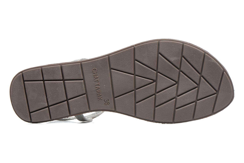 Sandales et nu-pieds Chattawak Nelly Argent vue haut
