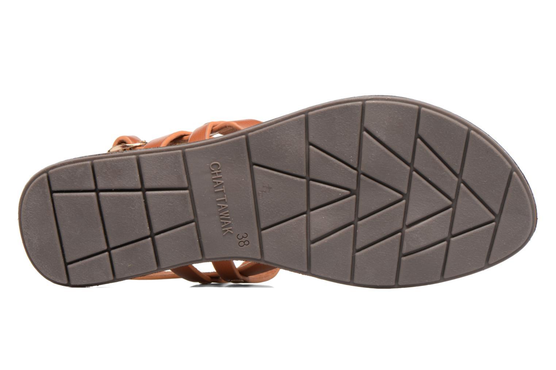Sandales et nu-pieds Chattawak Lydie Marron vue haut