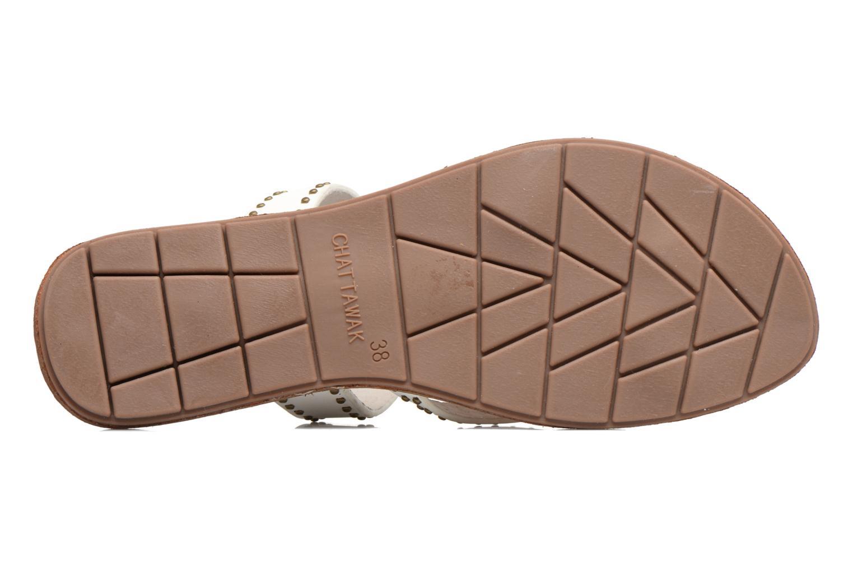 Sandales et nu-pieds Chattawak Pamela Blanc vue haut