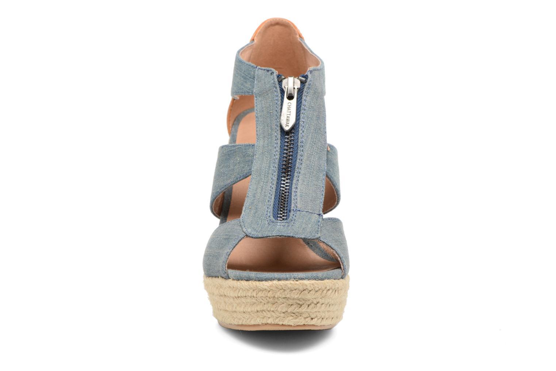 Sandales et nu-pieds Chattawak Debby Bleu vue portées chaussures