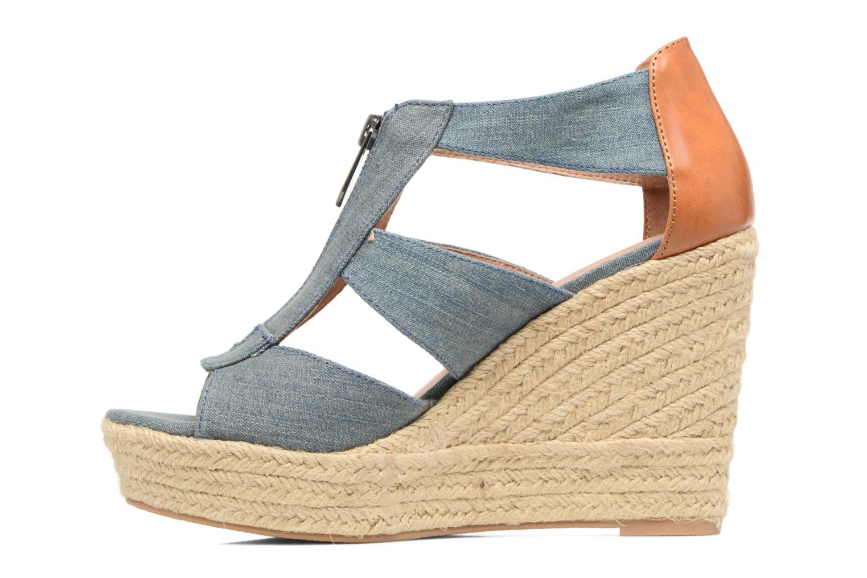 Sandales et nu-pieds Chattawak Debby Bleu vue face