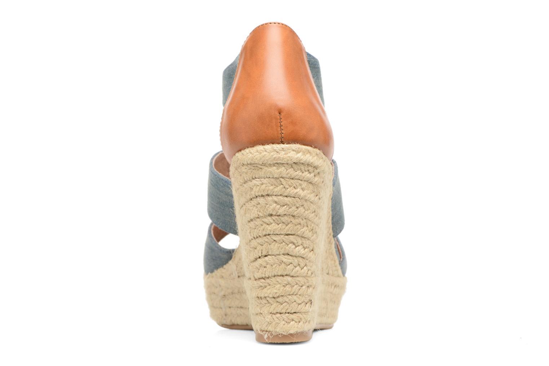Sandales et nu-pieds Chattawak Debby Bleu vue droite