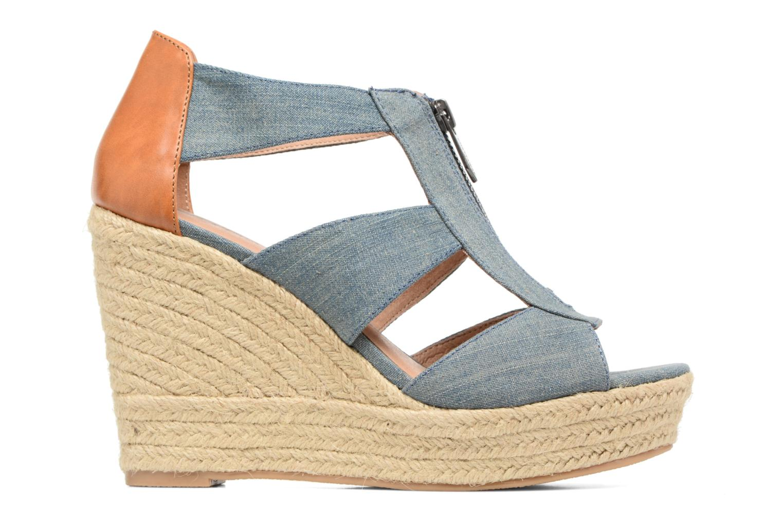Sandales et nu-pieds Chattawak Debby Bleu vue derrière