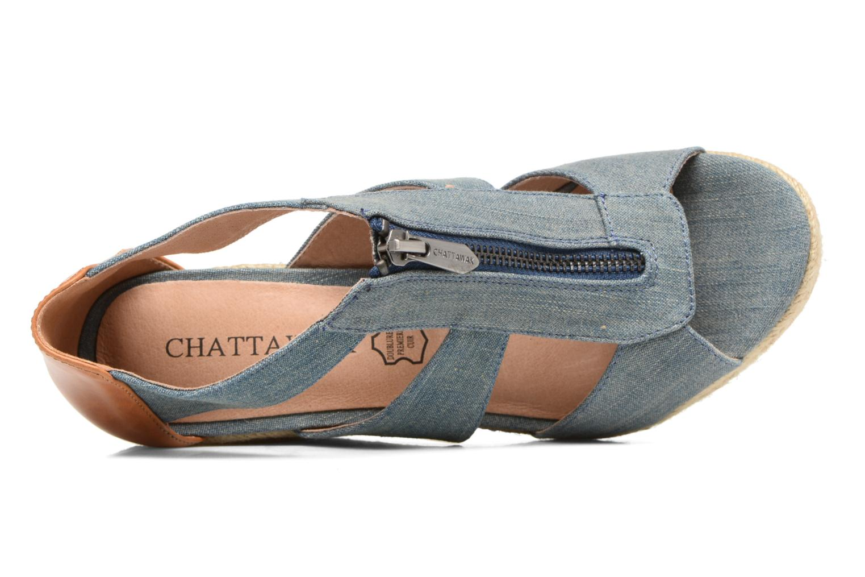 Sandalias Chattawak Debby Azul vista lateral izquierda