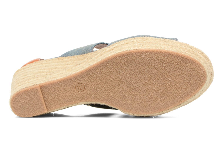 Sandales et nu-pieds Chattawak Debby Bleu vue haut