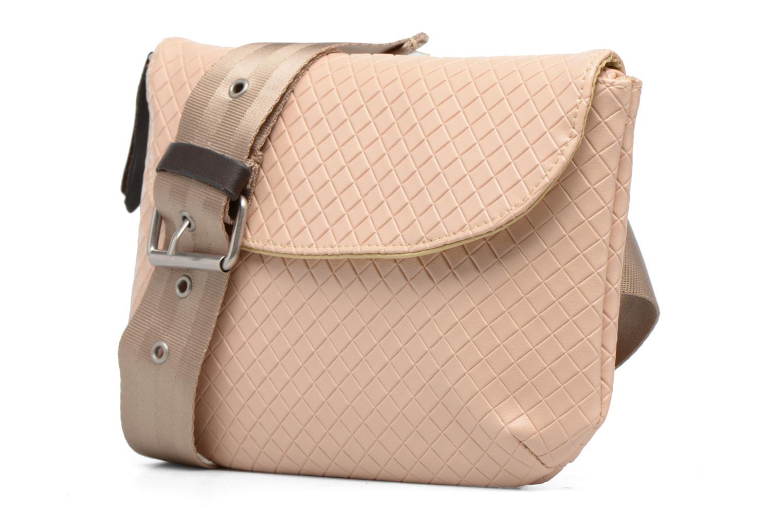 Sacs à main Bensimon Fancy Canvas line Belt bag Rose vue portées chaussures