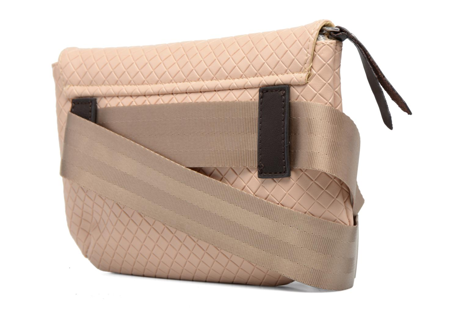 Sacs à main Bensimon Fancy Canvas line Belt bag Rose vue droite
