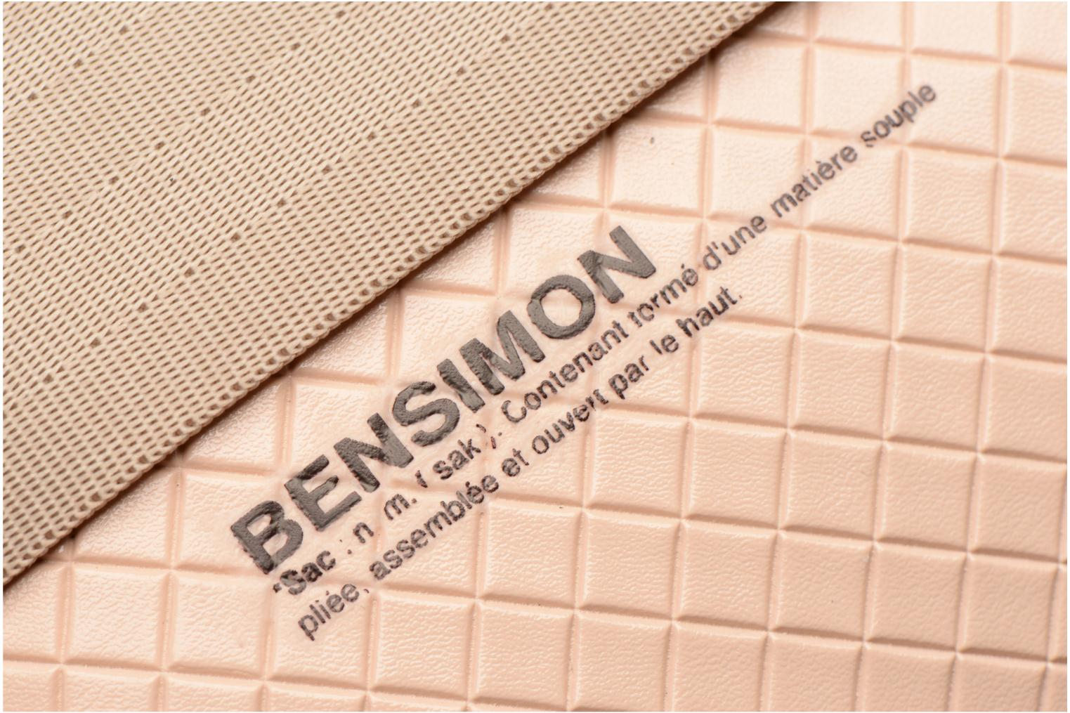 Sacs à main Bensimon Fancy Canvas line Belt bag Rose vue gauche