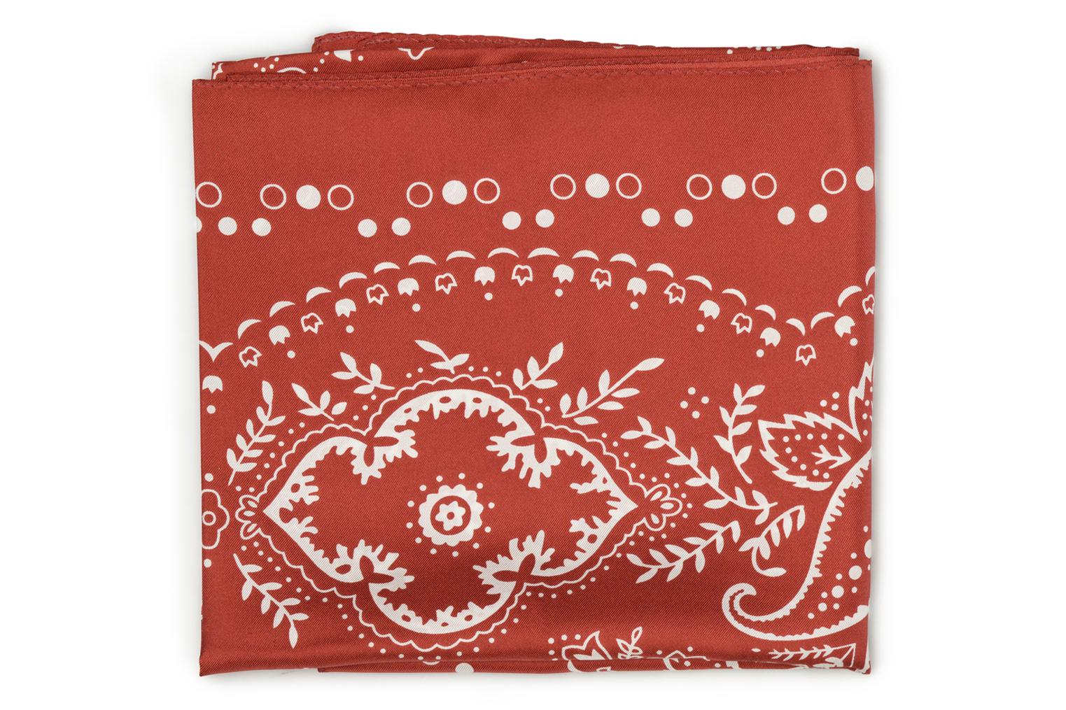 Foulard Bandana soie 80x80 Dark orange