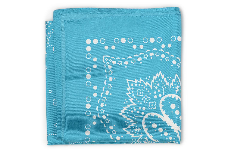 Foulard Bandana soie 80x80 Turquoise