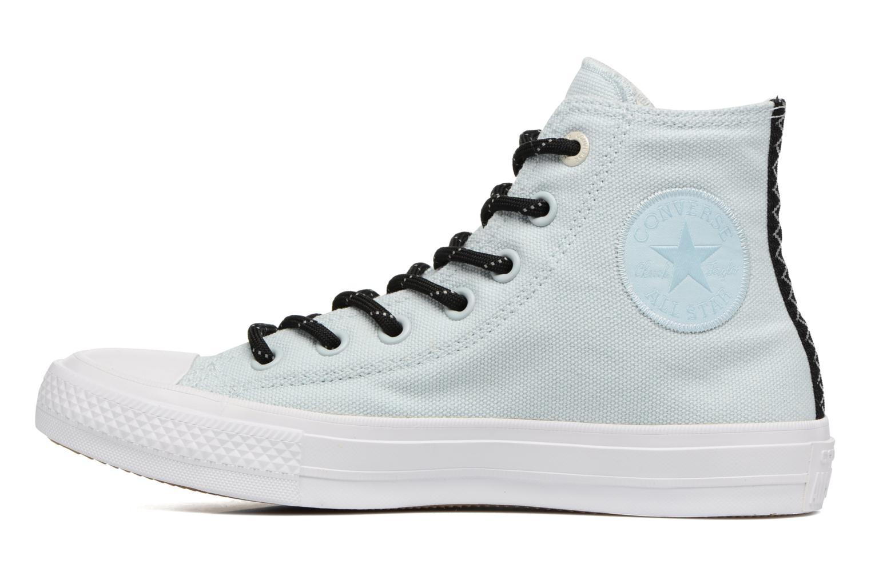 Sneaker Converse Chuck Taylor All Star II Hi Shield Lycra W blau ansicht von vorne