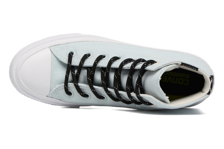 Sneaker Converse Chuck Taylor All Star II Hi Shield Lycra W blau ansicht von links
