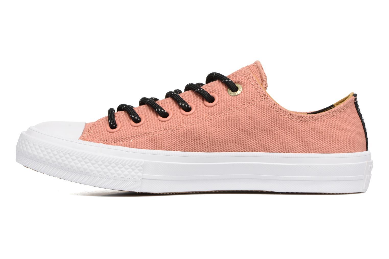 Sneaker Converse Chuck Taylor All Star II Ox Shield Lycra W orange ansicht von vorne