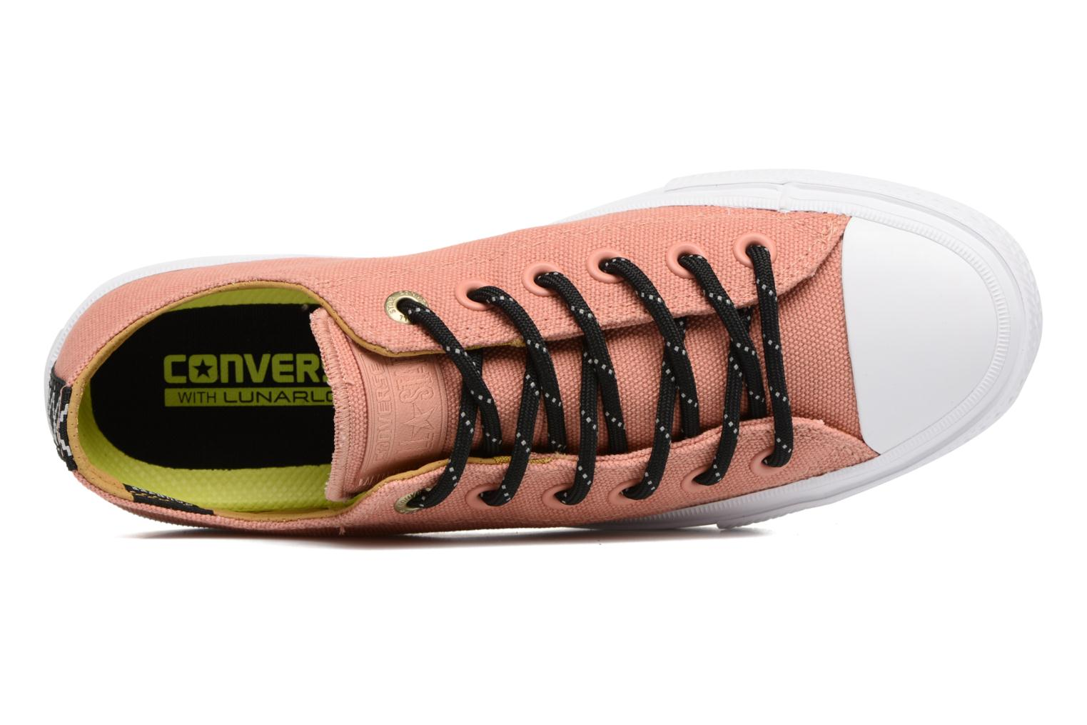 Sneaker Converse Chuck Taylor All Star II Ox Shield Lycra W orange ansicht von links