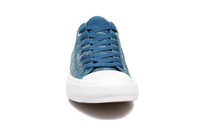 Baskets Converse Chuck Taylor All Star II Ox Reflective Wash M Bleu vue portées chaussures