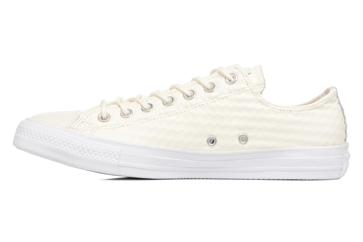 Sneaker Converse Chuck Taylor All Star Craft Leather Ox M weiß ansicht von vorne