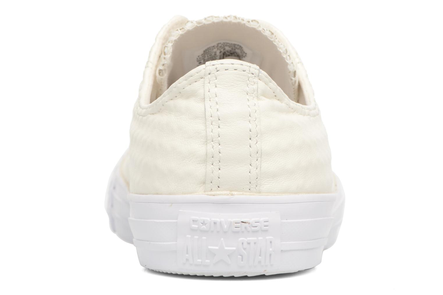 Baskets Converse Chuck Taylor All Star Craft Leather Ox M Blanc vue droite