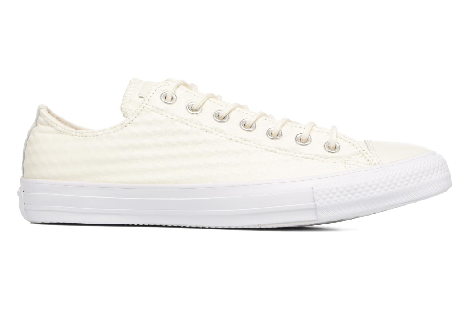 Baskets Converse Chuck Taylor All Star Craft Leather Ox M Blanc vue derrière