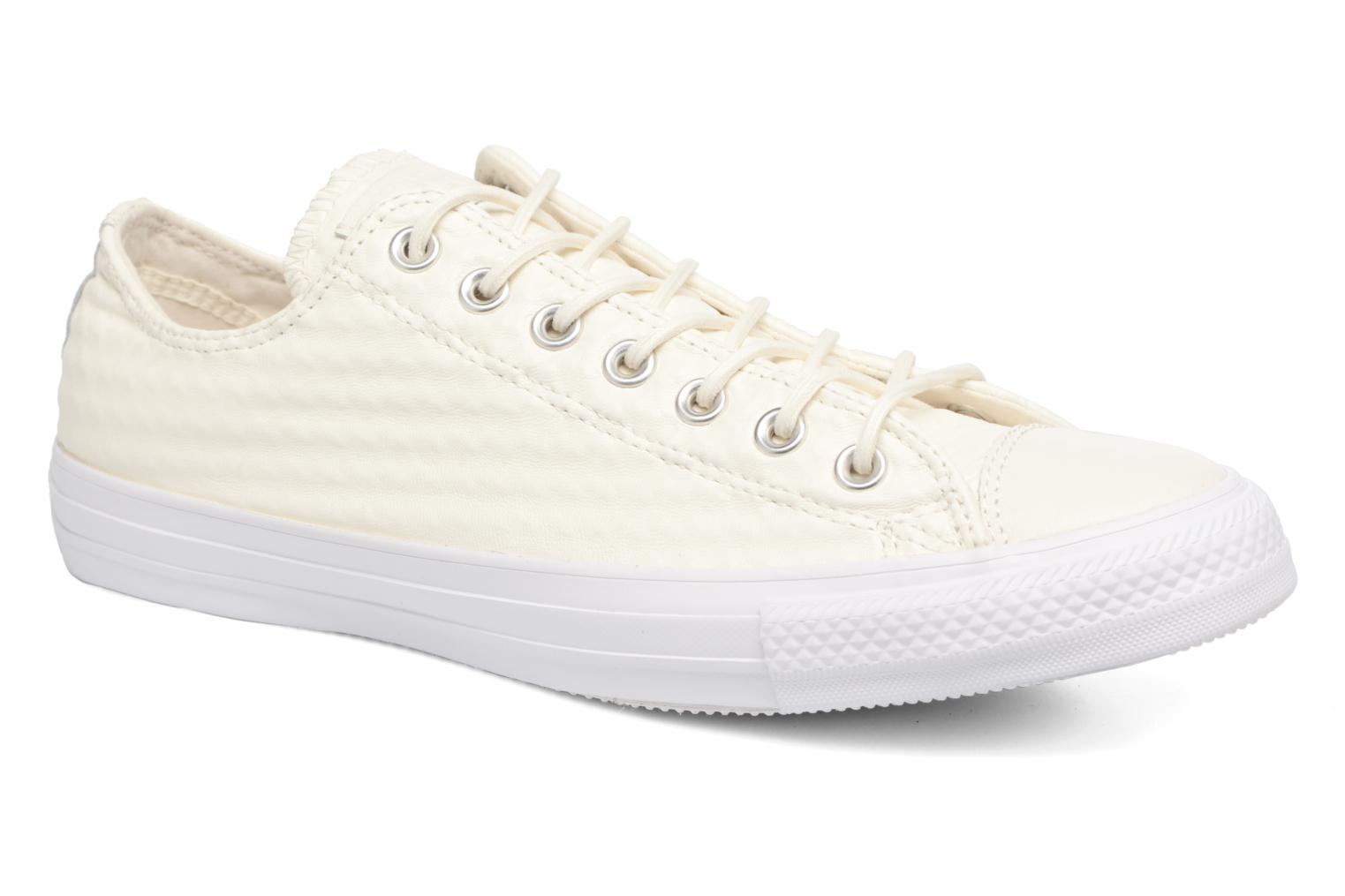 Baskets Converse Chuck Taylor All Star Craft Leather Ox M Blanc vue détail/paire