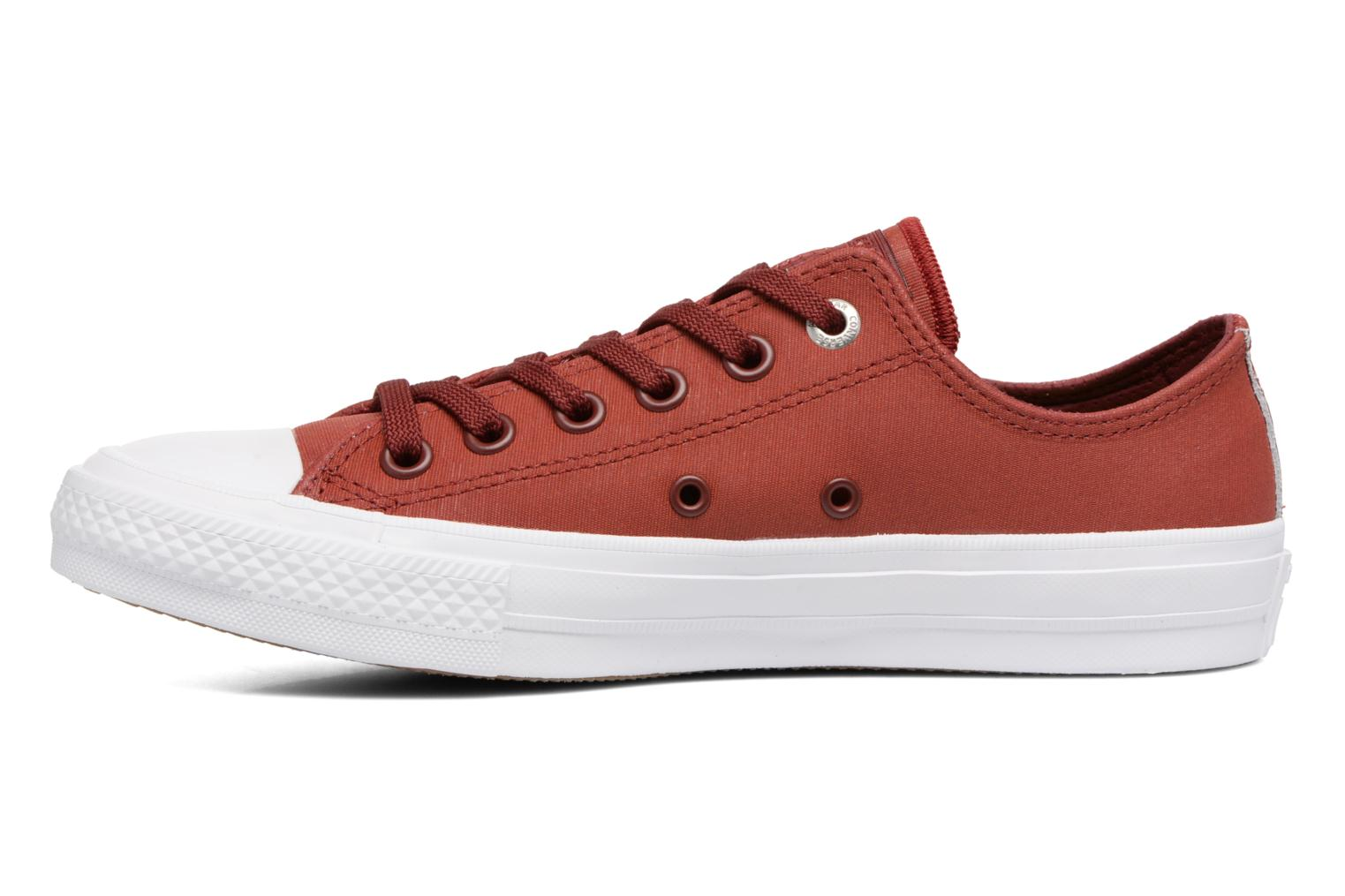 Sneakers Converse Chuck II Two-Tone Leather Ox W Rood voorkant