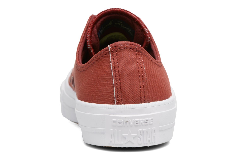 Sneakers Converse Chuck II Two-Tone Leather Ox W Rosso immagine destra