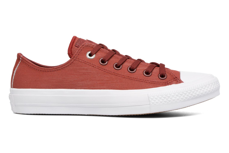 Sneakers Converse Chuck II Two-Tone Leather Ox W Rosso immagine posteriore