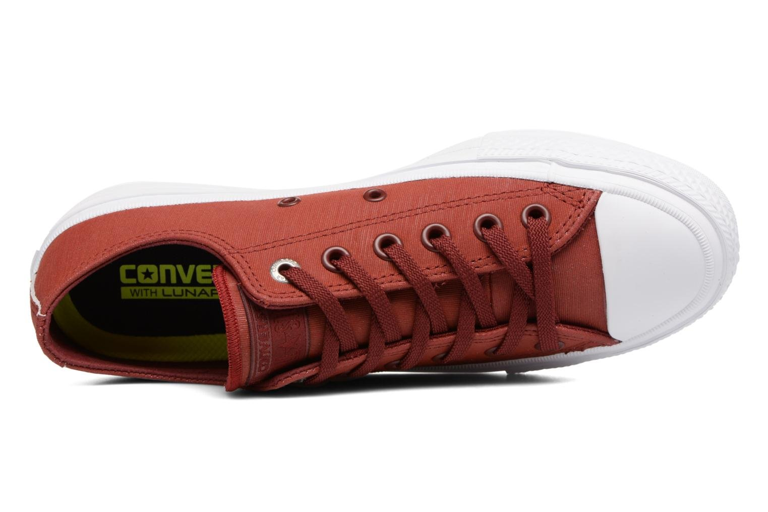Sneakers Converse Chuck II Two-Tone Leather Ox W Rosso immagine sinistra