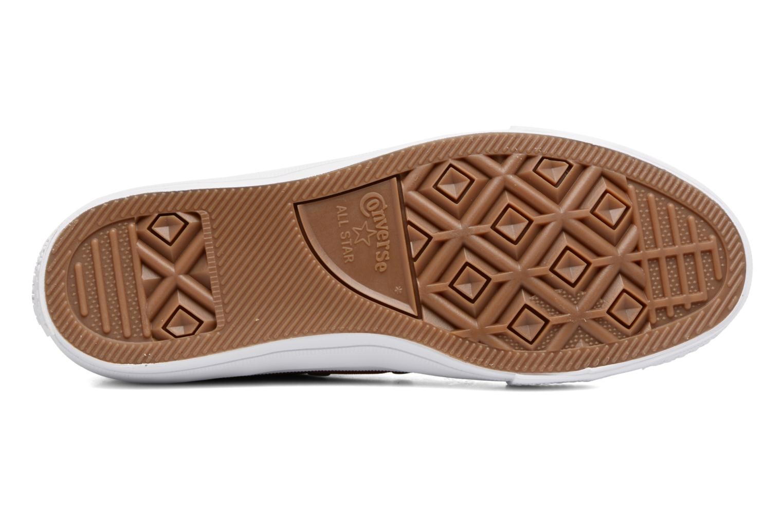 Sneakers Converse Chuck II Two-Tone Leather Ox W Rosso immagine dall'alto