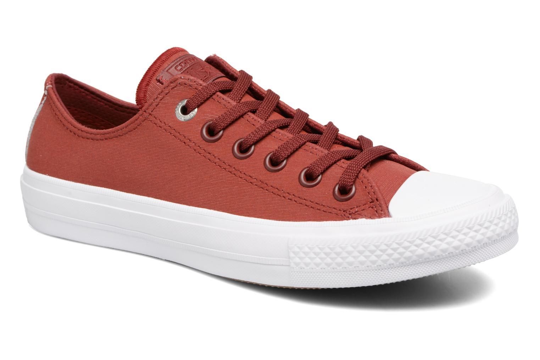 Deportivas Converse Chuck II Two-Tone Leather Ox W Rojo vista de detalle / par