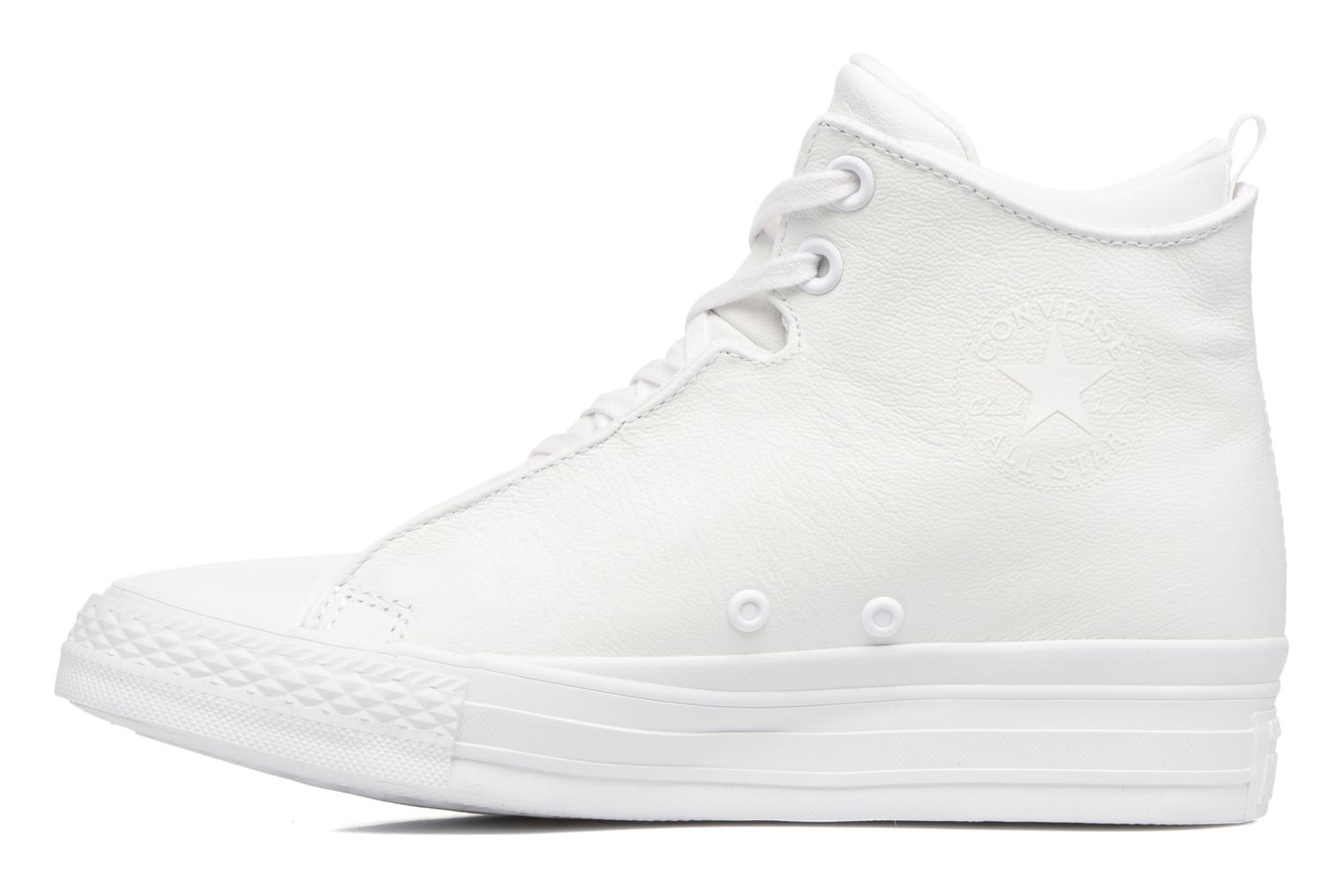 Baskets Converse Chuck Taylor All Star Selene Monochrome Leather Mid Blanc vue face