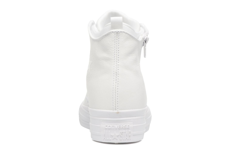 Sneaker Converse Chuck Taylor All Star Selene Monochrome Leather Mid weiß ansicht von rechts