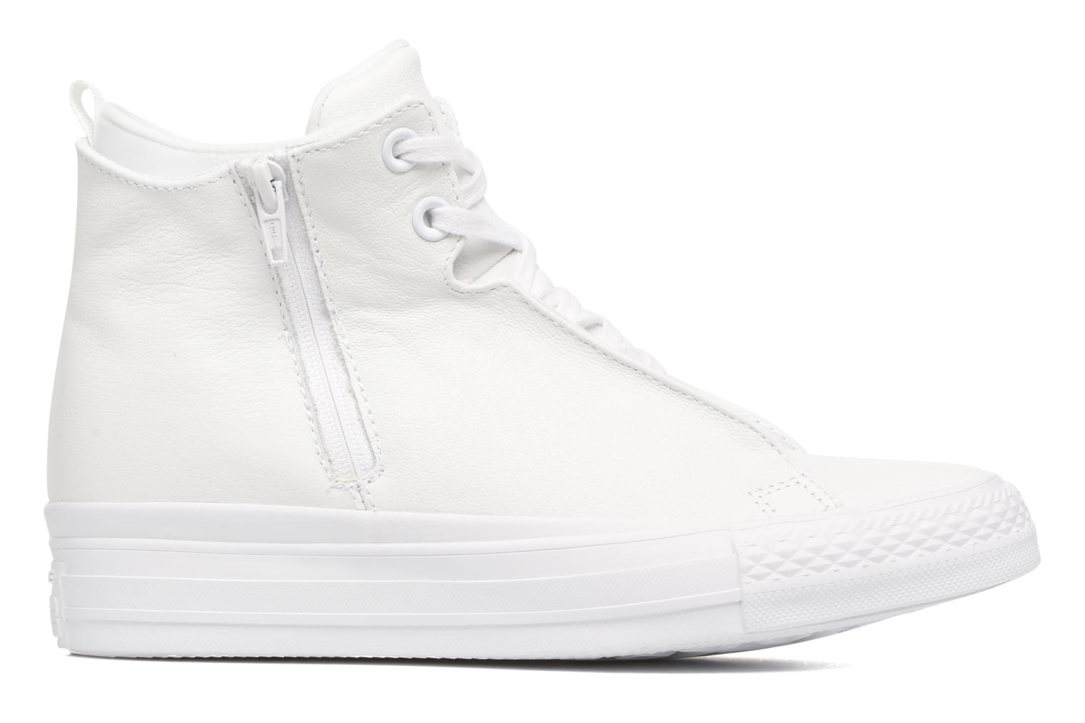 Baskets Converse Chuck Taylor All Star Selene Monochrome Leather Mid Blanc vue derrière