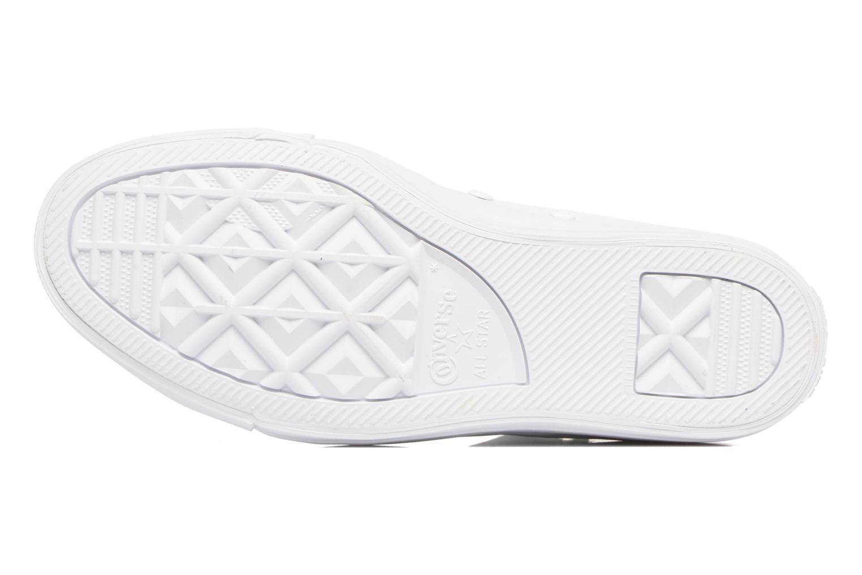 Sneaker Converse Chuck Taylor All Star Selene Monochrome Leather Mid weiß ansicht von oben