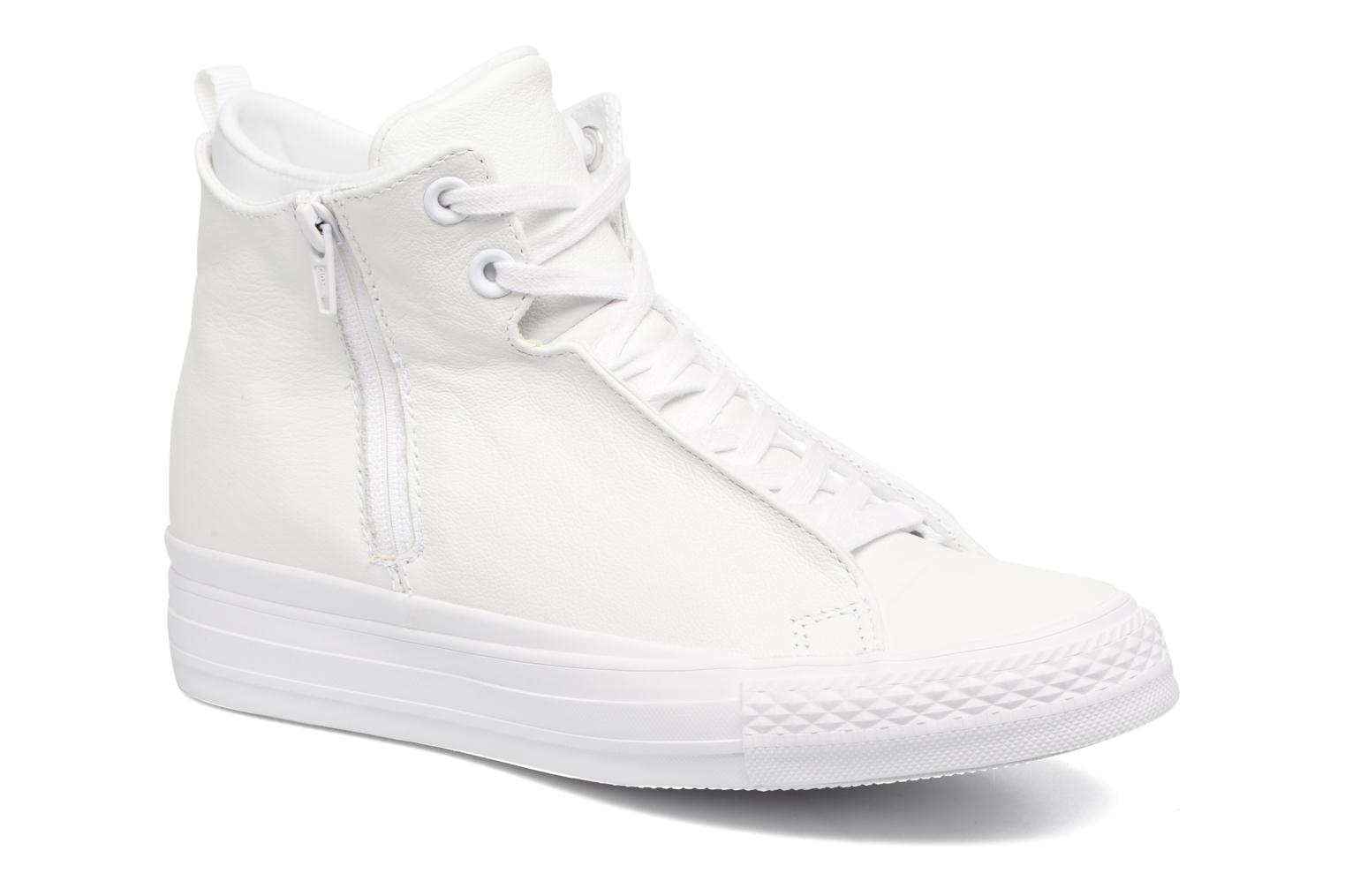 Baskets Converse Chuck Taylor All Star Selene Monochrome Leather Mid Blanc vue détail/paire
