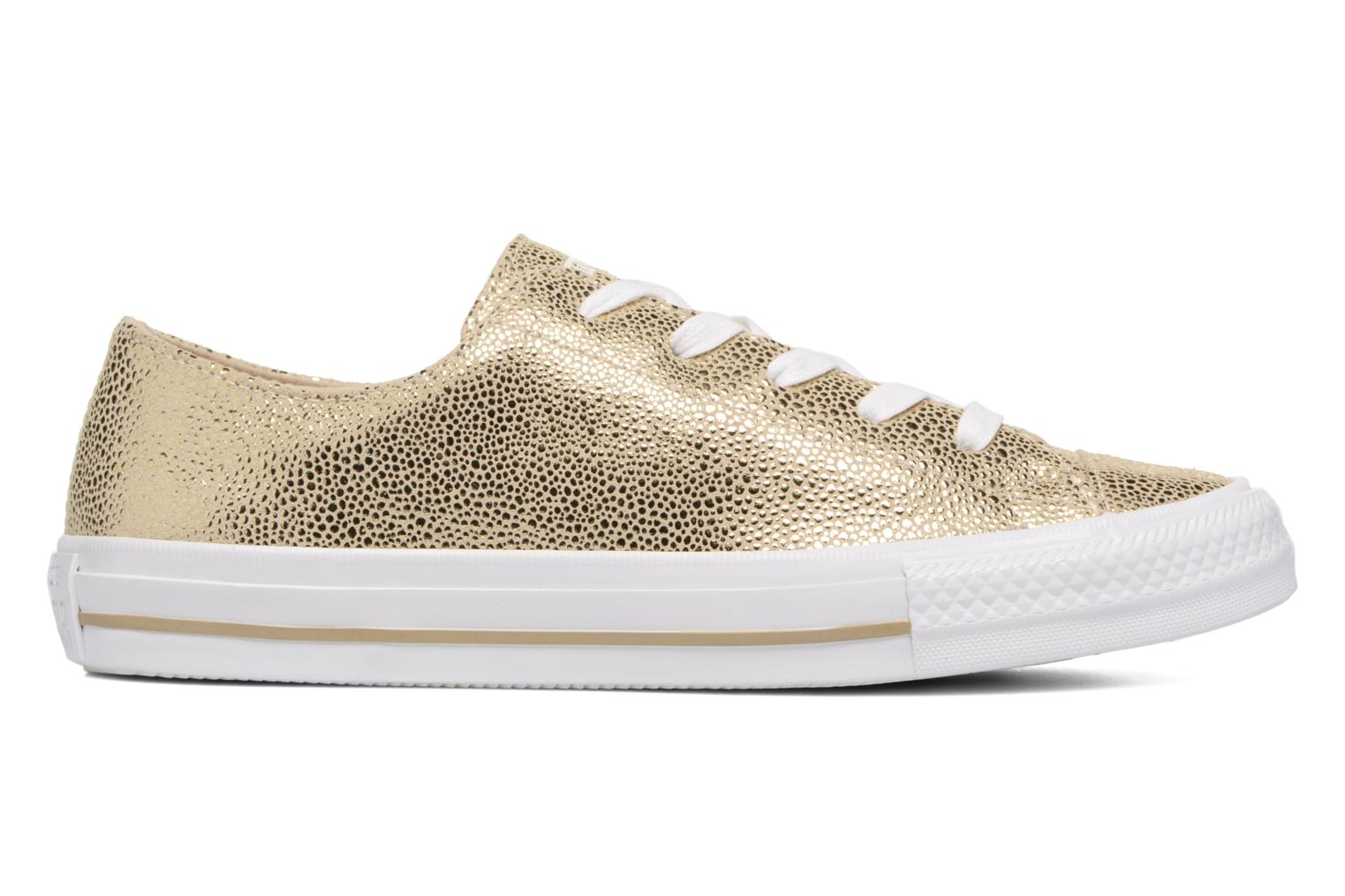 Baskets Converse Chuck Taylor All Star Gemma Ox Sting Ray Leather Or et bronze vue derrière