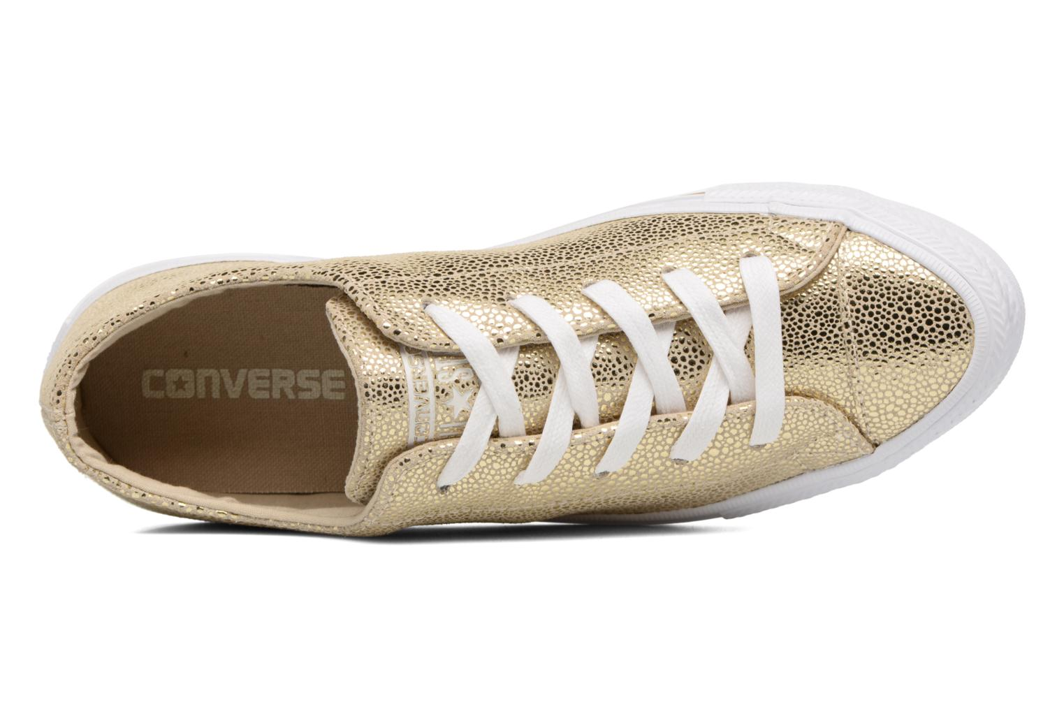 Baskets Converse Chuck Taylor All Star Gemma Ox Sting Ray Leather Or et bronze vue gauche