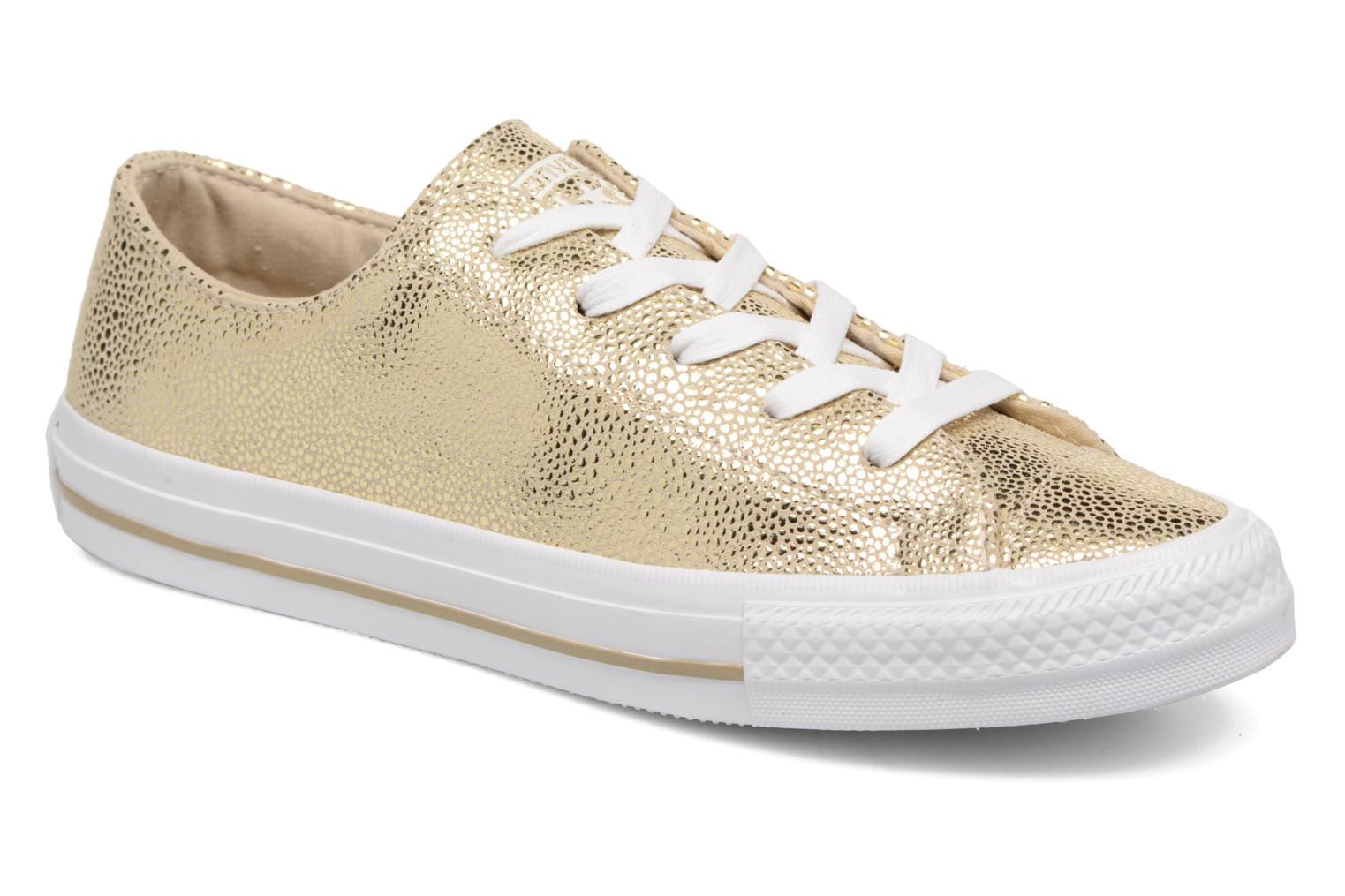 Chuck Taylor All Star Gemma Ox Sting Ray Leather Light Gold/White/White