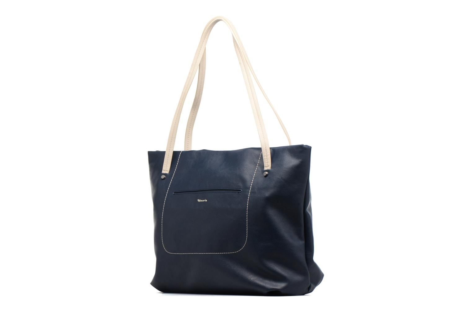 Pauline Shopping Bag Navy Comb