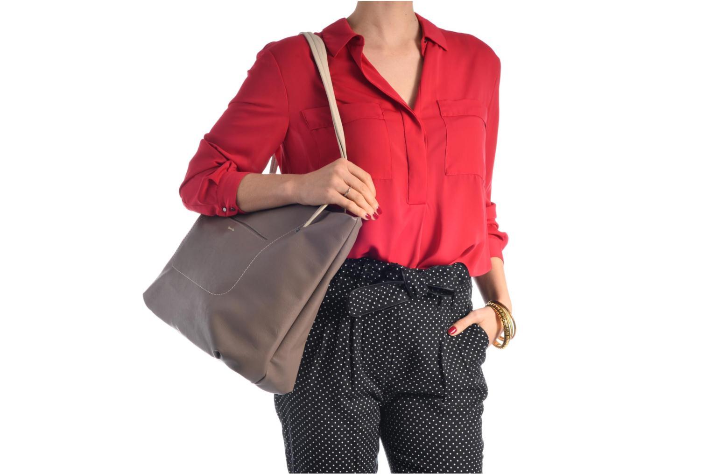 Pauline Shopping Bag Navy Comb
