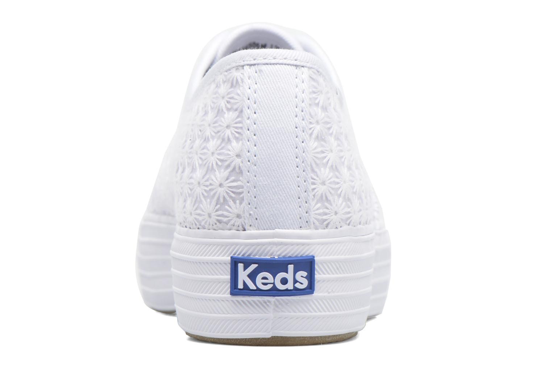 Baskets Keds Triple Mini Daisy Blanc vue droite