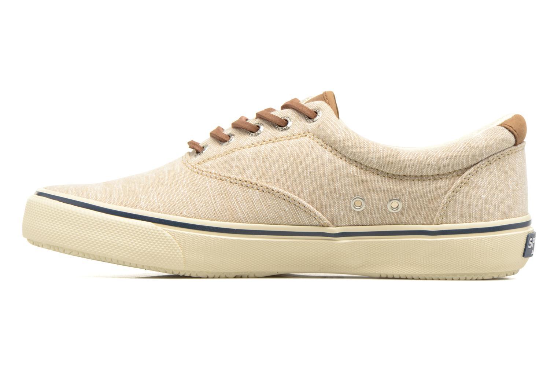 Sneakers Sperry Striper LL Line Beige immagine frontale