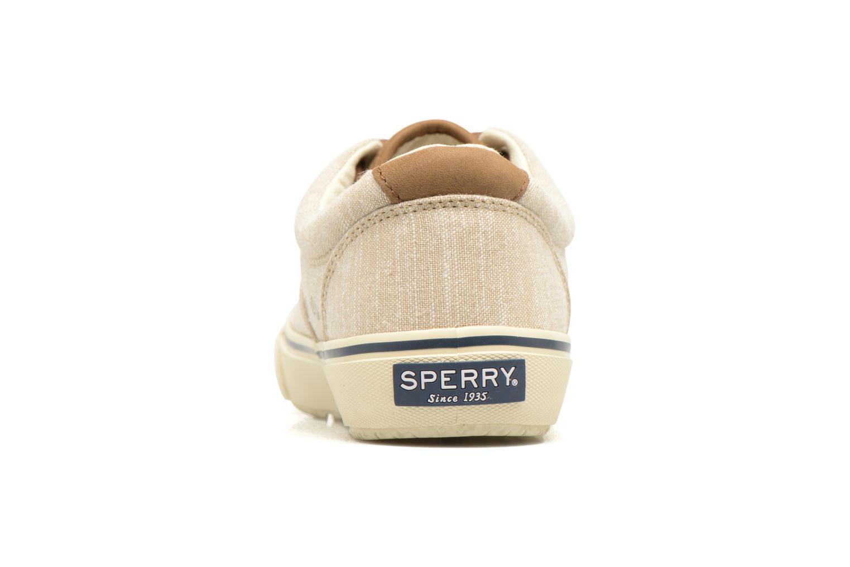 Baskets Sperry Striper LL Line Beige vue droite