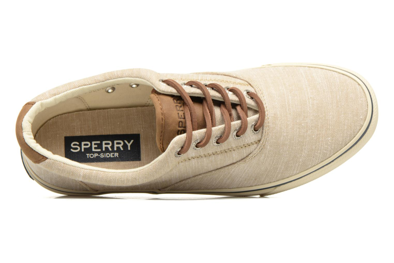 Sneakers Sperry Striper LL Line Beige immagine sinistra