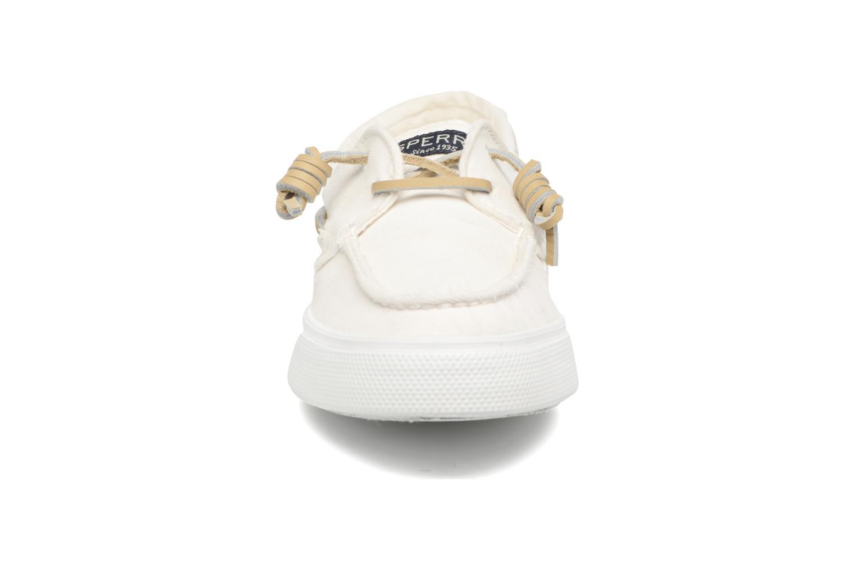 Sneakers Sperry Bahama Washed Bianco modello indossato